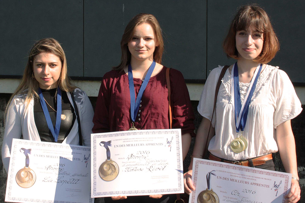 3 apprenties récompensées